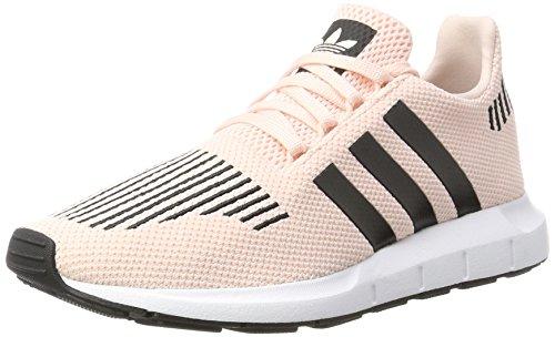 adidas Unisex-Kinder Swift Run J Gymnastikschuhe, Pink (Icey Pink F17/Core Black/Ftwr White), 38 2/3 EU (Schuhe Kinder Jungen Adidas)