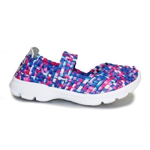 FANTASIA BOUTIQUE FLK011 Riptide àÉlastique Chaussures Respirable Vibrant Semelle Matelassée Baskets