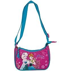 Disney Frozen - Die Eiskönigin, Elsa Anna Olaf, Handtasche Schultertasche (DKD), türkis/pink, 20 x 12 x 7 cm
