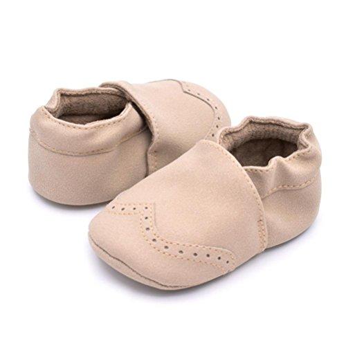 Hunpta Baby Kleinkind Säugling Neugeborenes Prewalker Stiefel Quaste Schuhe weiche Sohle (Alter: 6 ~ 12 Monate, Gray) Beige