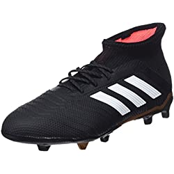 Adidas Predator 18.1 Fg J, Botas de Fútbol Unisex Niños, Negro (Negbas/Ftwbla/Rojsol 000), 37 1/3 EU