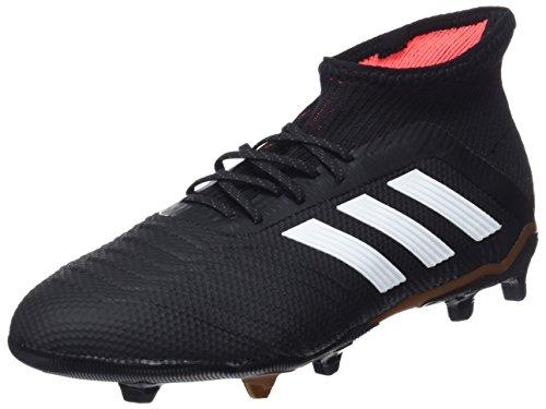adidas Predator 18.1 Fg, Scarpe da Calcetto Indoor Bambino, Nero (Schwarz, Weiß Cblack/Ftwwht/Solred), 38 2/3 EU
