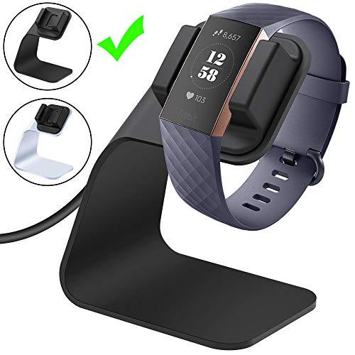 CAVN Fitbit Charge 3 Ladekabel Dock, (150cm/4.9ft) Ersatz USB Premium Ladestation Ladegerät Kabel Charging Dock Adapter Stand Ladekabel für Fitbit Charge 3 /SE Fitness Tracker, Black
