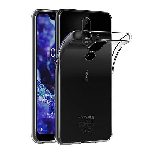 AICEK Coque Nokia 5.1 Plus, Transparente Silicone Coque pour Nokia 5.1 Plus Housse Silicone Etui Case (5,86 Pouces)