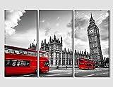 120x 80cm LONDON BUS Leinwand drucken Schwarz und Weiß Kunstdruck auf Leinwand London Art Wand London Foto London Kunstdruck auf Leinwand London Skyline Office Decor Home