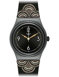 Swatch Damen Armbanduhren 1930 Analog Quarz Textil YLM1000