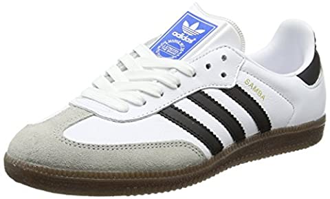 adidas Unisex-Erwachsene Samba Sneaker, Weiß (Footwear White/Core Black/Clear Granite), 38 2/3 EU