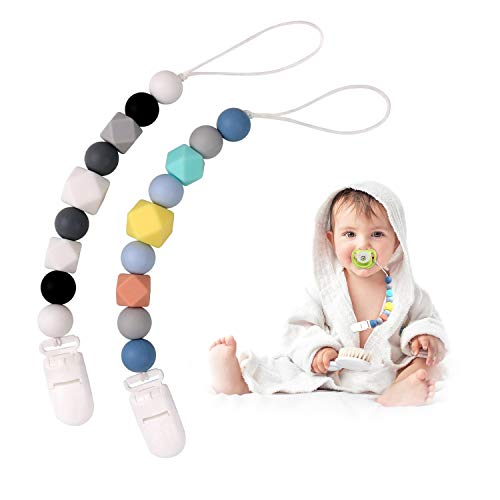 Cadena Chupete Clip Mordedor Denticion Silicona Bebé