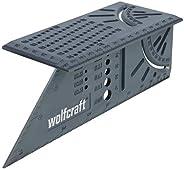 Wolfcraft 5208000 Équerre 3D d'onglet 150 x 275 x 66 mm - Traçage angle de 45° à