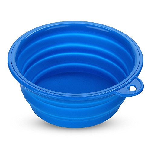 Trinknapf Wassernapf Hundenapf Silikon Hund Futter Napf Reisenapf Faltbar Blau