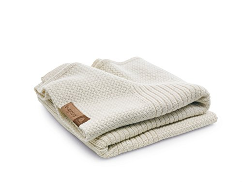 Bugaboo Soft Wool Blanket, Off-White Melange
