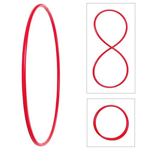 Plegable del aro de Hula, HDPE-20mm, de Rojo, Ø90cm