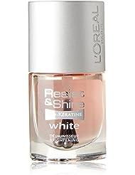 L'Oréal Paris Resist & Shine Pro-Kératine Nagellack, Nagelweißer gegen Verfärbungen, 9 ml