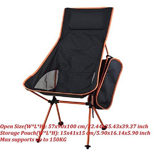 Tragbare Falten Fischen-Stuhl Camping Stuhl-Sitz 600D Oxford Tuch Aluminium Fischen-Stuhl für Outdoor Picknick-Grill Strand-Stuhl, Rot - Bar-height Bistro