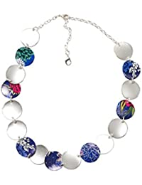 Desigual - Collier court - Plaqué argent - Global Traveller - 9 cm - 72G9EJ85016U