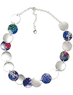 DESIGUAL Damen-Halskette Global traveller Versilbert-72G9EJ85016U