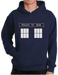 Inspired DOCTOR Police Box Adult Hooded Top Men's Hoodie