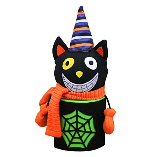 y Bags Süßigkeitstasche Candy Totes Bag Kostüm Zubehör Totes Bag,Fussel,19x9cm (Schwarze Katze) ()