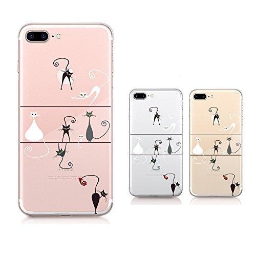 Qissy® iPhone 7 plus (5,5 Zoll)Hülle ,Transparent Weiche Silikon Schutzhülle TPU Bumper Case Leichte kratzfeste stoßdämpfende Hülle (iPhone 7 plus, 3) 7