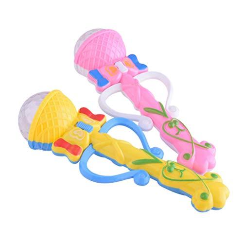 STOBOK Leuchtstäbe Kinder LED Leuchten Schmetterling Design Zauberstäbe Flashing Sticks Spielzeug Party Gastgeschenk 2 Stück (Zufällige Farbe)