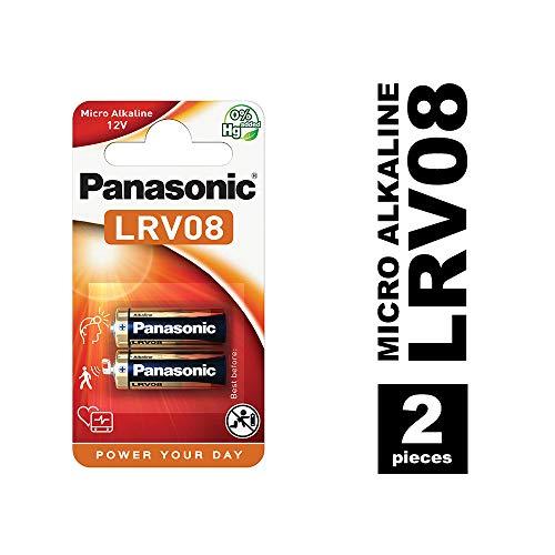 Panasonic LRV08 Micro Alkali-Batterie, 12V, 2er Pack, Alkaline