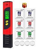 kungfuren PH Messgerät mit LCD Anzeige, Digital PH Wert Messgerät ATC Wasserqualität Tester für Haushalt Trinkwasser Hydroponic Aquarium Wasser, ±0.01pH Hohe Genauigkeit, 0.00-14.00 Messbereich