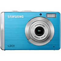 Samsung L201 Digitalkamera (10,2 Megapixel, 3-fach opt. Zoom, 6,9 cm (2,7 Zoll) Display, Bildstabilisator) blau