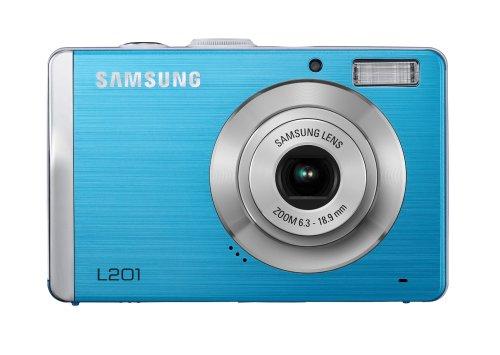 Samsung L201 Digitalkamera (10,2 Megapixel, 3-Fach Opt. Zoom, 6,9 cm (2,7 Zoll) Display, Bildstabilisator) blau 10.2 Mp, 2.7