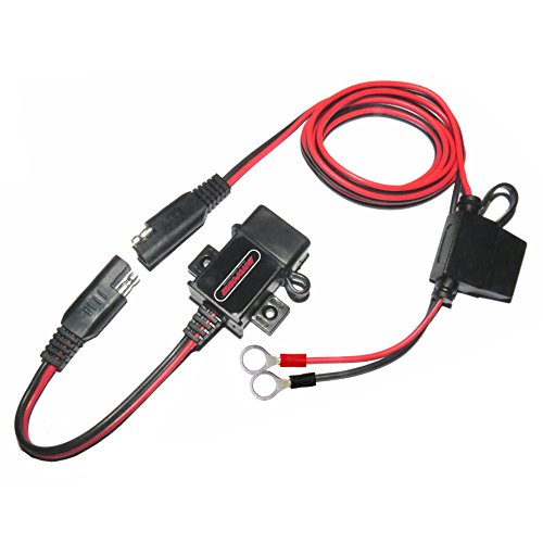 MOTOPOWER MP0609A 3.1Amp impermeable motocicleta cargador USB Kit SAE a USB adaptador...