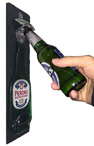 peroni-beer-bottle-opener-wall-mounted-on-slate-backing-made-by-bottleclocks-great-item-for-your-bee