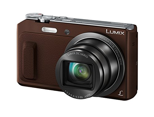Panasonic LUMIX DMC-TZ58EG-T Travellerzoom Kamera (16 Megapixel, 20x opt. Zoom, 3-Zoll LCD-Display, Full HD, WiFi, 24 mm Weitwinkel-Objektiv) braun