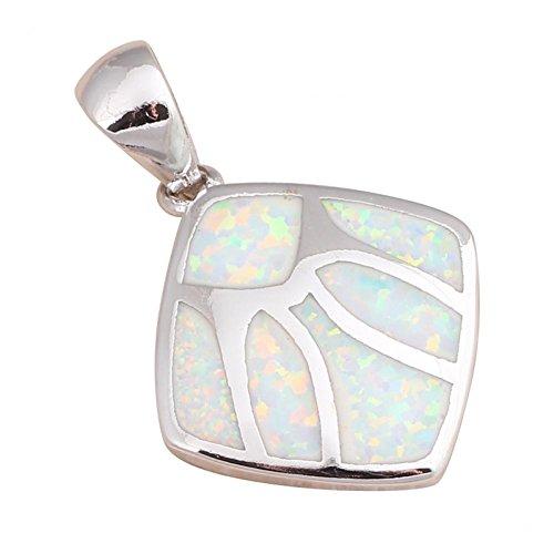Bling fashion unico per amico Bianco Opale di fuoco argento 925collane ciondoli matrimonio Fashion Jewelry ops542a