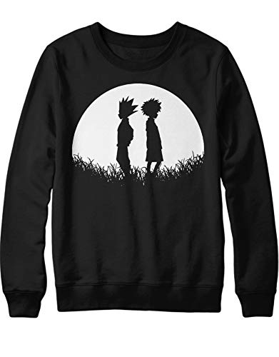 HYPSHRT Homme Sweatshirt Anime Hunter Gon x Killua C501022 Noir M