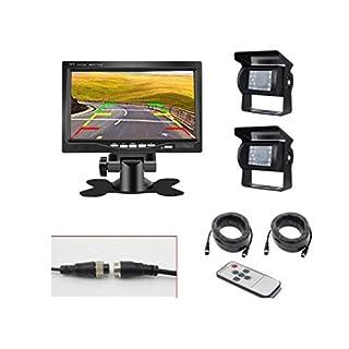 Bus, Truck, School Bus Camera And Monitor Kit, HD Reversing Image,Shockproof Waterproof Infrared Light Night Vision Camera