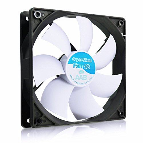 AAB Cooling Super Silent Fan 12 - una Silenziosa e Molto Efficiente 120mm Ventola per Case PC | PC Portatile | Ventilatore 12V | Raffreddamento PC | 12cm | 3 Pin Ventola Aspirazio