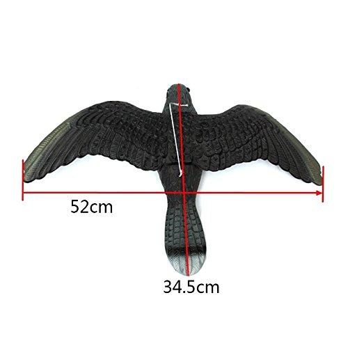STARKWALL 1pc Practical Lifelike Flying Bird Hawk Decoy Pest Pest Control Lawn Garden Family Farms Outdoor-Dekoration Pflanze Scarer Scarecrow -