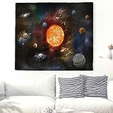 Schöne Sonnensystem Wandteppich Dekorative Spirale Universum Wanddekor Wandbehang Neun Planeten Wandkunst Tapisserie Indische Mandala Böhmische Wand Decke Hippie Strand Wurf Vorhang Weiß 59x51inch