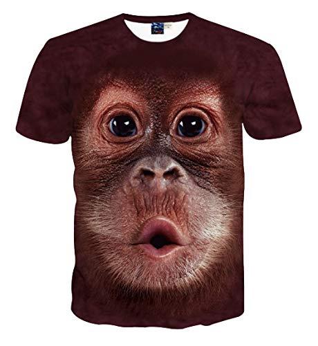 Camiseta mono soplando