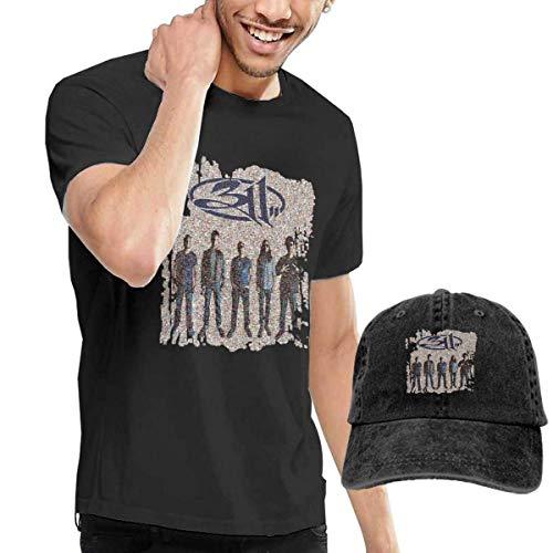 Thimd Herren T-Shirt und Kappe Schwarz, 311 Mosaic T-Shirts Washed Denim Baseball Dad Caps Black -