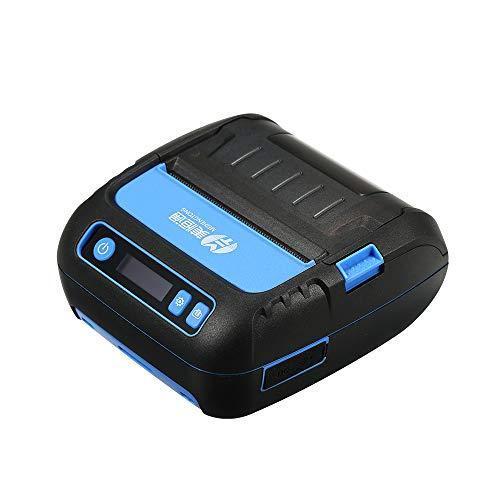 Docooler Stampante portatile per etichette e ricevute 2 in 1 Etichette adesive per codici Qr di alta qualità Codice a barre Stampante termica per etichette adesive per codici a barre 80mm per mobilità