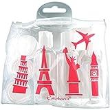 Estipharm Kit botellas de viaje (premio de la unidad–color aleatorio, azul, verde, naranja o rosa)