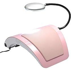Máquina de secado de uñas con dos ventiladores limpiador 60w uñas de la lámpara de clavo polvo de vacío , pink