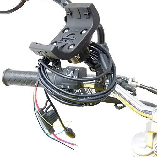 Buybits Audio/Stromkabel M8/M10 Spiegel Halterung für Garmin Montana 600 610 650 650t 680 680t