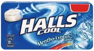 Halls Menthol Liptus Blue Candy, 22.4