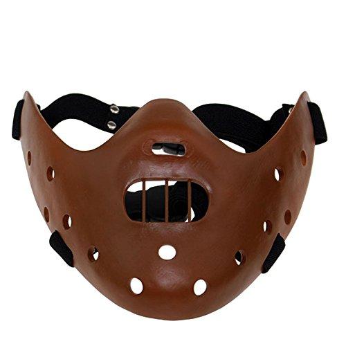 ent Lamm Hannibal Maske Jason Horror Dämon COS Dress Up Harz Gesichtsmaske,Brown-OneSize ()