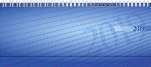 rido Querkalender 2019 septant PP blau: 2 Seiten = 1 Woche. Modell 36 102