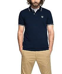 ESPRIT Herren Poloshirt 046EE2K032-Piqué-Regular Fit, Blau (Navy 400), Medium