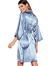3d63b22657 Debenhams The Collection Womens Blue  Mother of The Bride  Satin Wrap Dressing  Gown