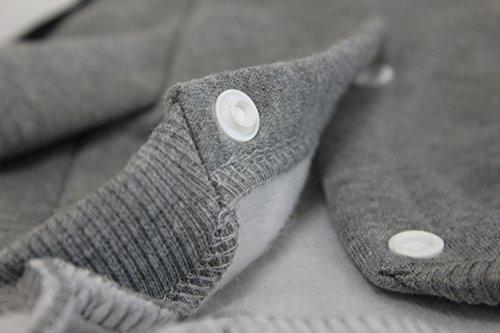 Zehui Haustier Hund Warmen Vier Beine Hoodies Welpe Pullover T-shirt Kleidung Winter-Pullover Bekleidung Grau XXL - 6