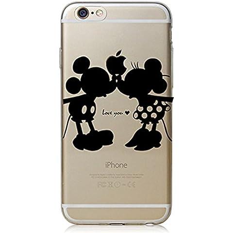 Phone Kandy® Claro transparente Caso de Shell duro de la piel y la pantalla del protector para el iPod de la historieta carcasa funda (iPod Touch 5 / 6 (de plástico duro), Love